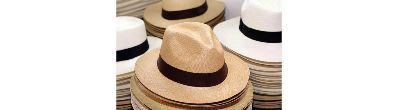 Sombreros de Panama, sombreros blancos de paja de Cuenca para aventura