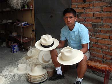 Finished Panama Hats