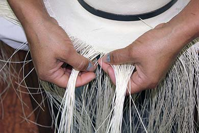 Montecristi Panama Hat Weaver