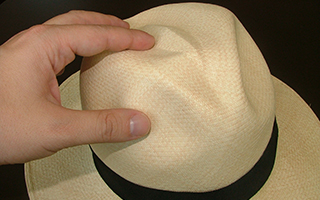Reshaping Panama Hat - Restoring Form