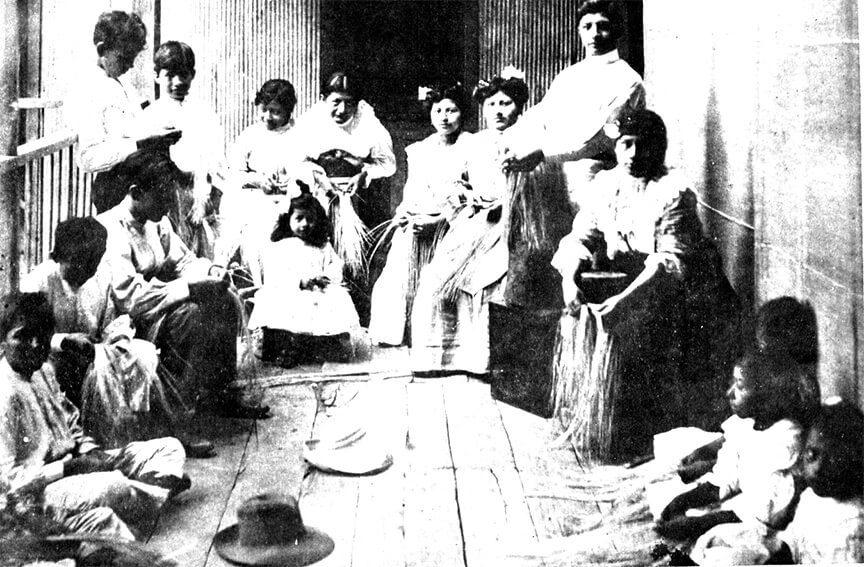 Montecristi Panama Hat Weavers Old Photograph